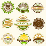 Set of Fresh Organic Labels and Elements Royalty Free Stock Image