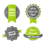 Set of Fresh Organic Labels and Elements. Stock Photo