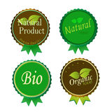 Set of Fresh Organic Labels and Elements Royalty Free Stock Images