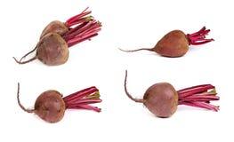 Set of Fresh red beet  on  white Stock Photo