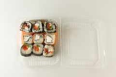 Fresh rolls with fish Royalty Free Stock Photos