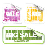 Set of fresh sale labels Royalty Free Stock Image