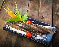 Set of fresh shrimp as an appetizer for beer Royalty Free Stock Photography