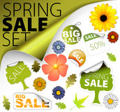 Set of fresh spring sale elements Stock Images