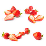 Set of a fresh strawberries isolated Royalty Free Stock Images