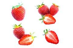 A set of fresh strawberry Royalty Free Stock Photos