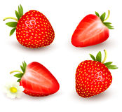 A set of fresh strawberry. Vector Stock Images