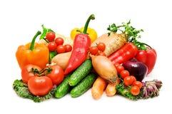 Set of fresh vegetables Royalty Free Stock Photos
