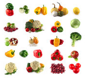 Set of fresh vegetables and fruits Royalty Free Stock Photos