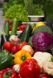 Set of fresh vegetables and herbs. Selective focus. Shallow dept Stock Images