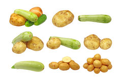 Set of fresh vegetables.Isolated. Royalty Free Stock Photo