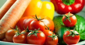 Set of fresh vegetables Stock Photos