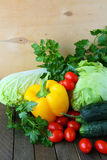 Set of fresh vegetables on the table Stock Photo