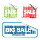 Set of fresh white sale labels Royalty Free Stock Photo