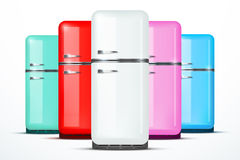 Set of Fridge refrigerator. Vector isolated on Stock Images