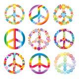 Set Friedenssymbole Stockfotos