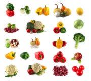 Set Frischgemüse und Früchte Lizenzfreie Stockfotos