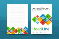 Set of front and back a4 size pages, business annual report design templates Royalty Free Stock Photo