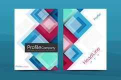 Set of front and back a4 size pages, business annual report design templates Royalty Free Stock Photography