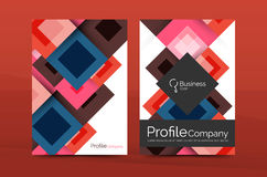 Set of front and back a4 size pages, business annual report design templates Royalty Free Stock Image