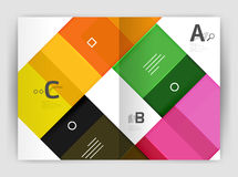 Set of front and back a4 size pages, business annual report design templates. Geometric square shapes backgrounds. Vector illustration Royalty Free Stock Image