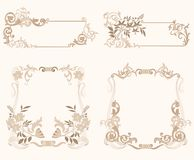 Set_of_froral_frame Royalty Free Stock Images