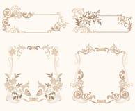 Set_of_froral_frame Imagens de Stock Royalty Free