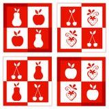 Set Fruchtfelder stockbilder