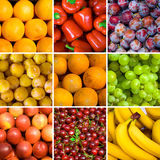 Set of fruit backgrounds Stock Photos