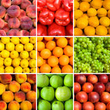 Set of fruit backgrounds Royalty Free Stock Image