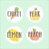 Set of fruit badges. Part 2. Stock Images