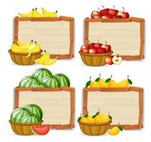 Set of fruit banner. Illustration royalty free illustration