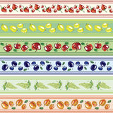 Set of fruit banners Stock Images