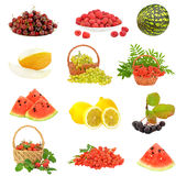 Set with fruit and berries Stock Photography
