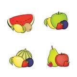 Set of fruit Stock Photos