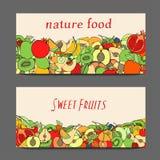 Set of fruit Stock Photo