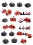Set fruit fig, isolated. Stock Image