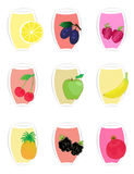 Fruit icons2 Royalty Free Stock Photography