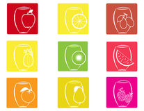 Fruit icons2 Stock Image