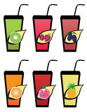Fruit icons1 Royalty Free Stock Photos