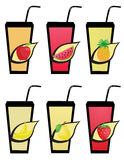 Fruit icons2 Stock Images