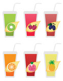 Fruit icons1 Stock Photography