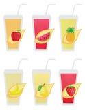 Fruit icons2 Stock Photography