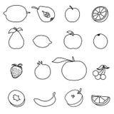 Set of Fruit icon Royalty Free Stock Photography