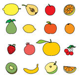 Set of Fruit icon Stock Photo