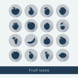 Set of fruit icons. Royalty Free Stock Image