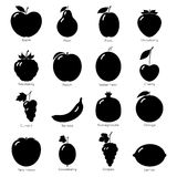 Set of fruit icons. Stock Image
