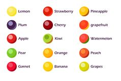 Set of Fruit Icons Royalty Free Stock Photos