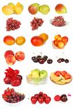 Set of  fruit isolated on the white. Stock Photos