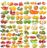 Set of fruit isolated on white background. Set of fruit isolated on a white background Royalty Free Stock Photo